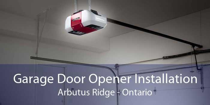 Garage Door Opener Installation Arbutus Ridge - Ontario